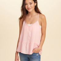 Girls Woven Peplum Cami | Girls Tops | HollisterCo.com