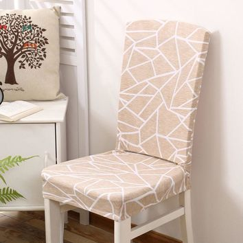 Freedom Style Floral Printed Universal Spandex Stretch Short Removable Elastic Cloth Chair Covers Banquet Style Chair Covers
