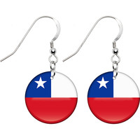 Chile Flag Earrings