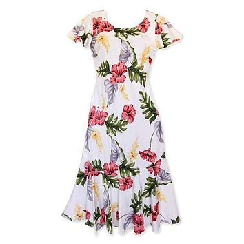 honeymoon cream hawaiian malia dress