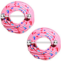 14 Gauge 20mm Pink Cupcake Nipple Shield Set