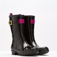 Black Kellywelygl Mid Height Gloss Wellies | Joules US