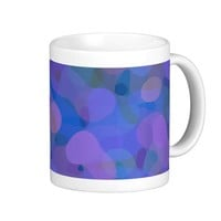 Blue, Purple, Blobs of Color Abstract Classic White Coffee Mug
