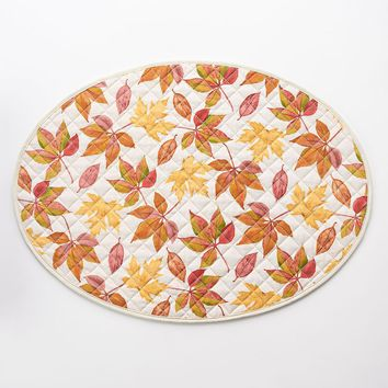 Harvest Leaf Reversible Quilted Placemat