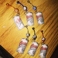 Coors Light Can Bellybutton Ring One Of A Kind