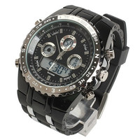 Man Fashion Stylish Men Digital Quartz Sports Watch Stopwatch Black Dial Black Bezel [9210699395]