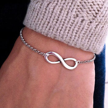 Metal Infinity Sign Bracelet. FREE SHIPPING