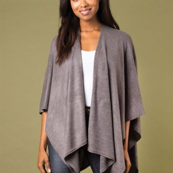 Heathered Bordeaux Cardi Wrap by Simply Noelle