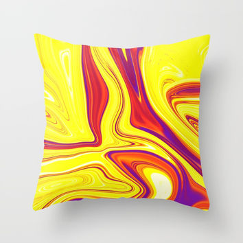 Abstract Fluid 9 Throw Pillow by Arrowhead Art
