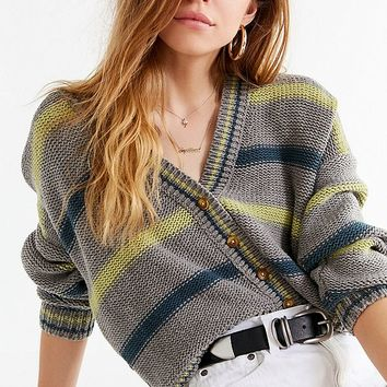 UO Aiden Striped Button-Down Cardigan | Urban Outfitters