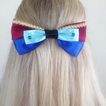Anna Frozen Elsa and Anna Sisterly Love Bow, For The First Time In Forver by Design Bowtique