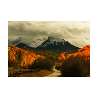 Harvest in the Colorado Mountains Adhesive Art Print