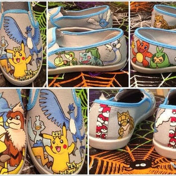 Custom Hand Painted Pokemon Shoes
