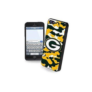 NFL Green Bay Packers Camo Team Logo Apple iPhone 5 5s Hard Cover Snap On Case