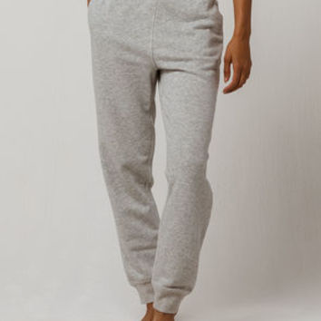 CALVIN KLEIN Modern Cotton Heather Gray Womens Jogger Pants