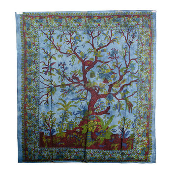 "90"" X 96"" Tree of life, tapestry, wall art, bedcover , bedspread, Happie Tapestry, Bohemian"