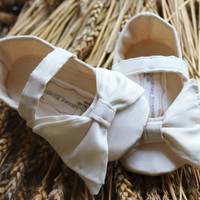 Baby Shoes-Soft Soled-Lillian-Sizes 1-4 Wedding/Flower Girl