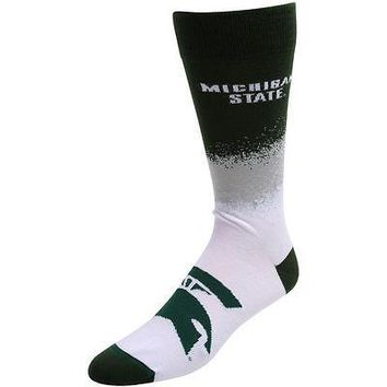MICHIGAN STATE SPARTANS MARQUEE SOCKS SIZE LARGE BRAND NEW FOR BARE FEET