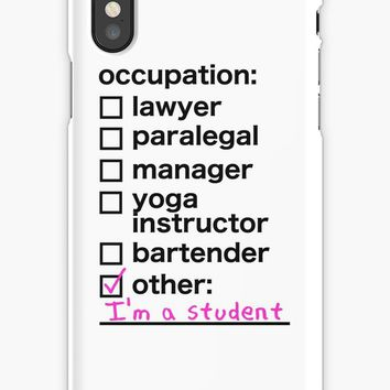 'i'm a student version 2 - crazy ex-girlfriend' iPhone Case/Skin by weaponx5203