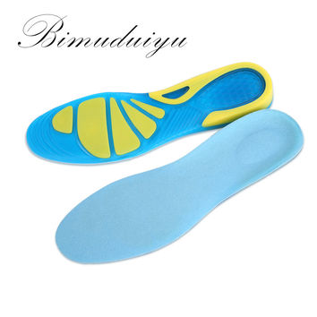 Sports Insoles Women Men Shoes Pad Silicone Damping Soft Insoles Breathable Absorb Sweat Mountaineer Shoe Inserts