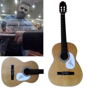 Jordan Davis Autographed Full Size 39 Inch Country Music Acoustic Guitar, Proof Photo