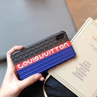 LV x Suitcase Style Protective Phone Case - Blue