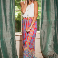 Take A Print Maxi Dress, Red