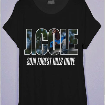 J.COLE 2014 Forest Hills Drive Black T-Shirt