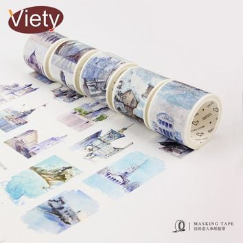 4cm*7m Travel Around the World  washi tape DIY decorative scrapbooking sticker planner adhesive masking tape label sticker