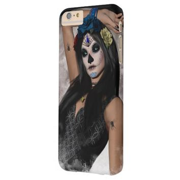 Full Moon's Sugar Skull Dark Mask & Blue Eyes Barely There iPhone 6 Plus Case