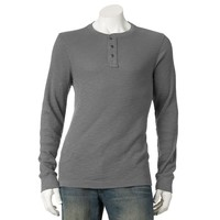 SONOMA life + style Slubbed Thermal Henley - Men|SONOMA life + style Slubbed Thermal Henley - Men