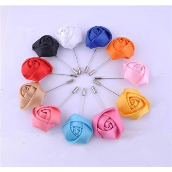 Men's Flower Collection Brooch Boutonnieres - 15 Colors