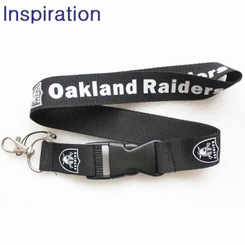 Oakland Raiders Necklace Lanyards Neck Strap For Keys USB Holder New DIY Hang Rope Lanyard Necklace For Phones Football Fans