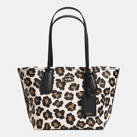COACHtaxi tote 24in ocelot print leather