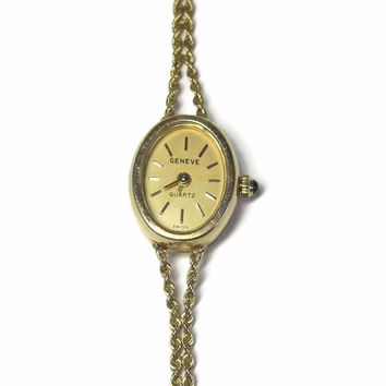Vintage 14K Ladies 14K Swiss Geneve Watch 7 Inches