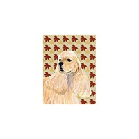 Caroline's Treasures Cocker Spaniel Fall Leaves House Flag
