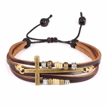 Awesome Great Deal New Arrival Gift Stylish Shiny Vintage Roman Cross Rack Men Hot Sale Bracelet [10783258371]