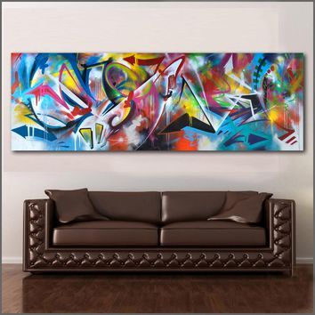 Large size Printing Graffiti painting Wall Art Oil Paintings Abstract Picture Home Decor Canvas Print For Living Room No Frame