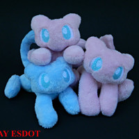 Custom Order Mew: Miniature Legendary Psychic Pokemon Pocket Plush Beanie