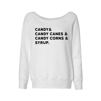 Elf Food Groups Wideneck Sweatshirt