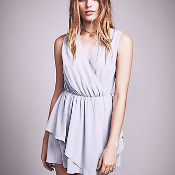 Womens Plie Washed Silk Mini Dress