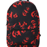 DC Comics Harley Quinn Batman Logo Backpack