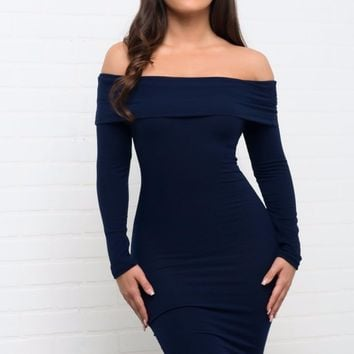 Cameryn Dress - Navy