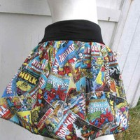 Marvel Comic Books Captain America Thor Iron Man Hulk retro geek Skirt shirt S-XL | PoppysWickedGarden - Clothing on ArtFire