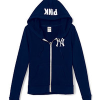 New York Yankees Bling Full-Zip Hoodie - PINK - Victoria's Secret
