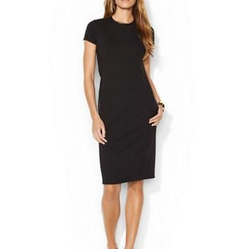 Lauren Ralph Lauren Faux Leather Trim Dress
