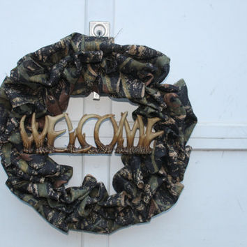 CAMOUFLAGE WELCOME WREATH