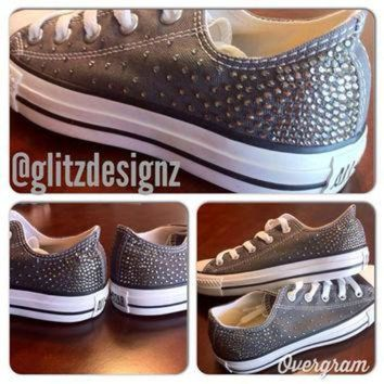 CREYONB Ombre SWAROVSKI Crystal Rhinestoned CONVERSE Chuck Taylor All Stars
