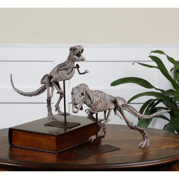 T-Rex Sculptures - Set of 2 - Sculptures & Figurines at Hayneedle
