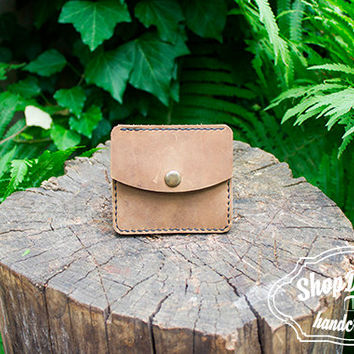 Minimalist wallet / Calfskin Leather / Summer Small Wallet / Mens Leather Wallet / Card wallet / Simple Wallet / Olive wallet